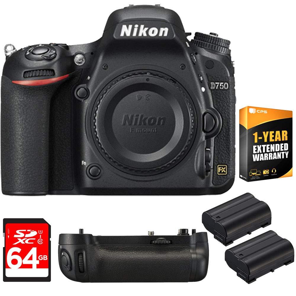 Amazon.com: Nikon D750 DSLR cámara HD 1080P FX-format ...