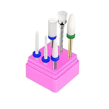 5x Puntas de Cerámica Profesionales para Maquina de Perforacion de Uñas, Broca Bit de Uñas