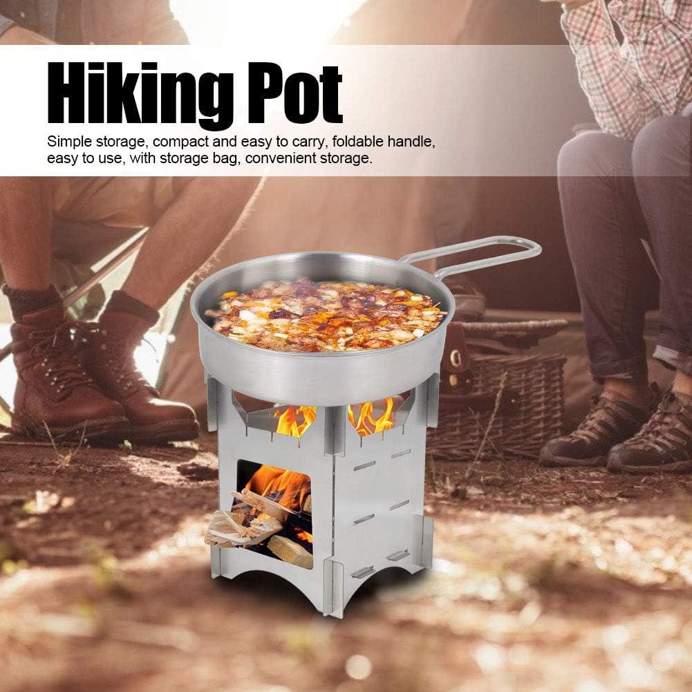 Camping Pot f/ür Camping f/ür Outdoor-Wanderkochgeschirr Pan Camping Equipment Sorand Edelstahl Kochwerkzeug Set Picknick Kochgeschirr Campingkocher