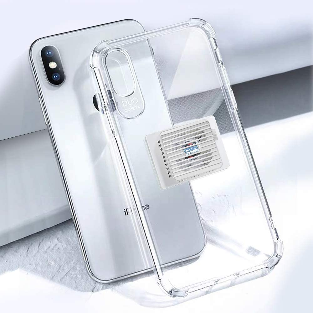 """Cyezcor Mobile Phone Radiator, Mobile Phone Semiconductor Cooler, Portable Refrigeration Mobile Phone Fan Integrated with Phone Case,Suitable for Play Games, Watch Videos iPhone X/XS (5.8"""""""