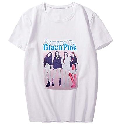 e5327d39 Amazon.com : YJYP Kpop Blackpink Tshirt Jennie Jisoo Lisa Rose World Tour  Same Tee Shirt : Sports & Outdoors