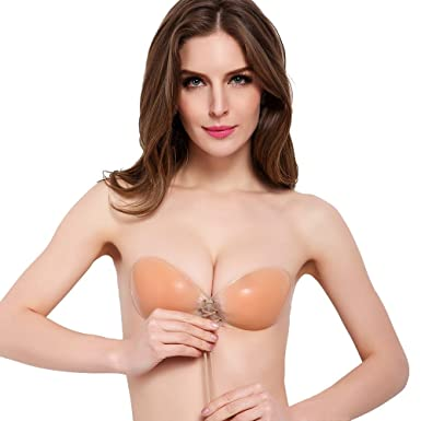 8daec9c9f8e0f Ulanda-EU Womens Self Adhesive Bras Invisible Strapless Backless Seamless  Stick on Silicone Reusable Bra