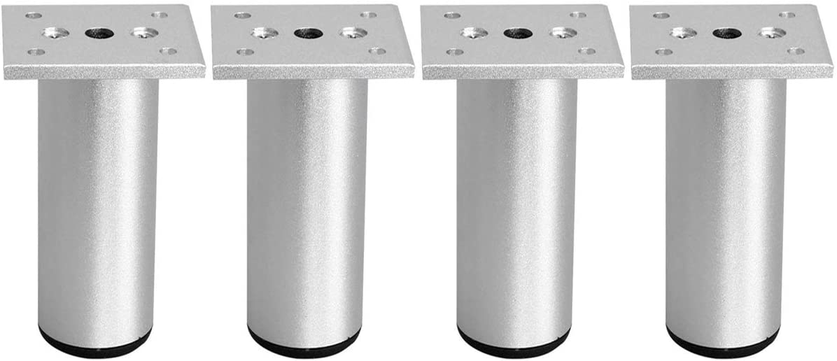 4 x 25mm SQUARE TABLE LEGS ADJUSTABLE NICKEL PLATED FEET FOOT CATERING SINK UNIT