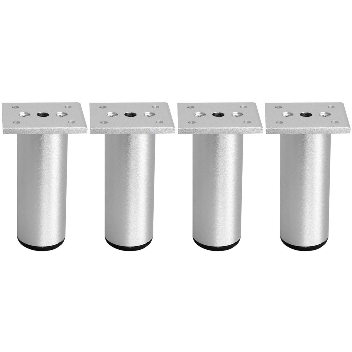 6 inch / 15cm Furniture Legs, La Vane Set of 4 Aluminium Plinth Adjustable Cabinet Feet for Cupboard Sofa Kitchen Couch Bookcase