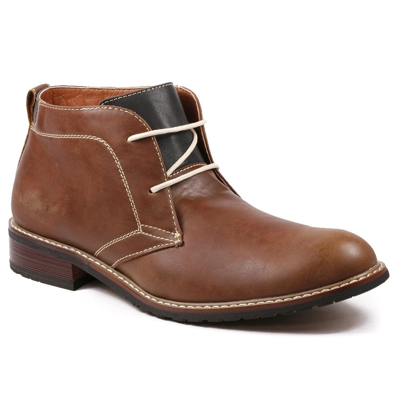 Amazon.com | Ferro Aldo MFA-506008 Brown Men's Round Toe Ankle ...