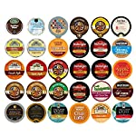 Coffee, Tea, and Hot Chocolate Recyclable Single Serve Cups For Keurig K Cup Pod Brewers Variety Pack Sampler, 30 Count from Perfect Samplers