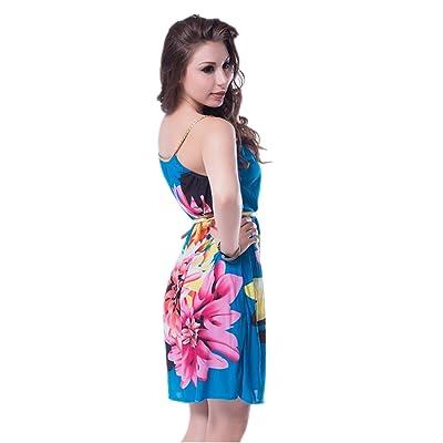 ohyeahlady レディースファッションドレス ベルト付き ビーチドレス 全3色