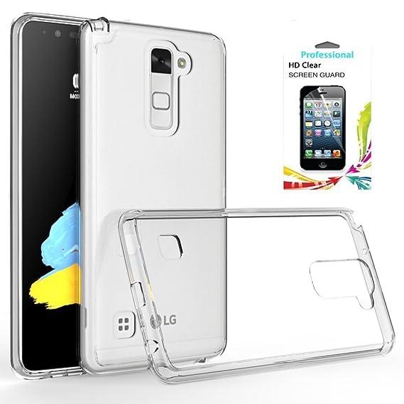 huge selection of 8e917 ae154 LG Stylo 2 V Case,LG Stylo 2 Case,LG Stylo 2 Plus/Stylus 2 Clear Case with  HD Screen Protector,AnoKe Scratch Resistant Cute Girls Men Boys Thin Slim  ...