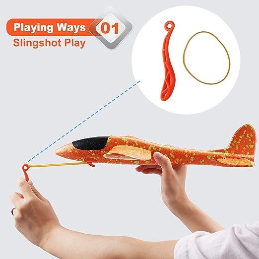 30da671ea0 Satkago Foam Airplane Toy 2019 Version 2Pcs 15 Inch Styrofoam Flying Glider  Toy Plane Airplanes for Kids Boys Manual Throwing Slingshot Planes ...