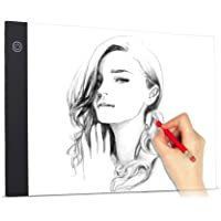 Festnight A4 Ultra-Thin LED Light Pad Painting Tracing Panel Copyboard Constant Brightness with USB Cable for Cartoon Tattoo Tracing Pencil Drawing X-Ray Viewing