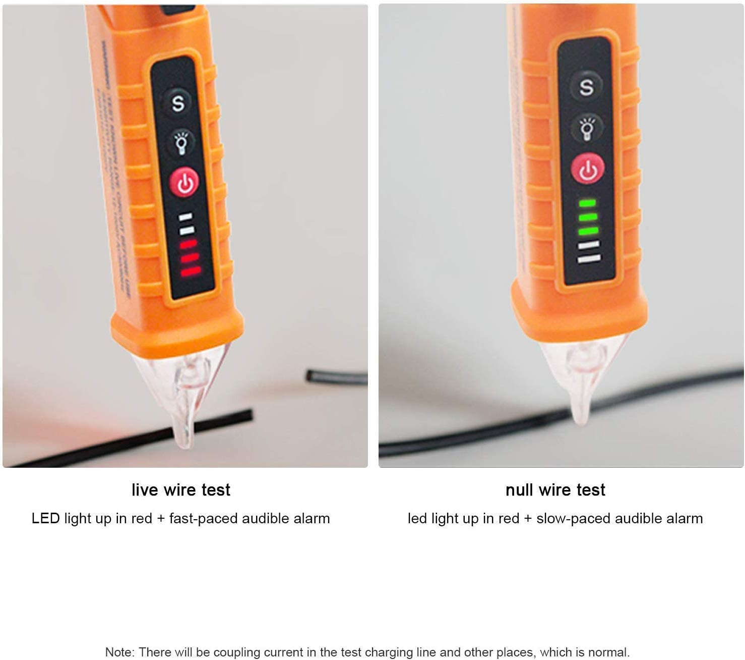 Electric Voltage Tester Non-Contact,12-1000V AC Voltage Detector Pen Digital Voltage with LED Flashlight Voltage Detector Alarm Mode,Live//Null Wire Judgment