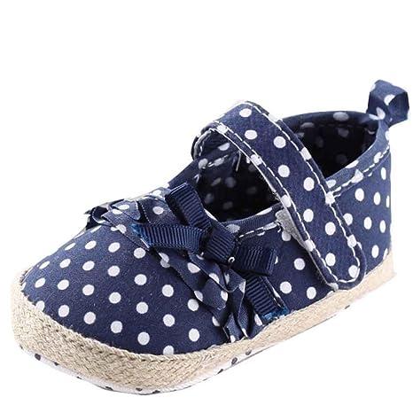 kingko® Zapatos Bebé Niña Antideslizante lienzo Sneaker ...