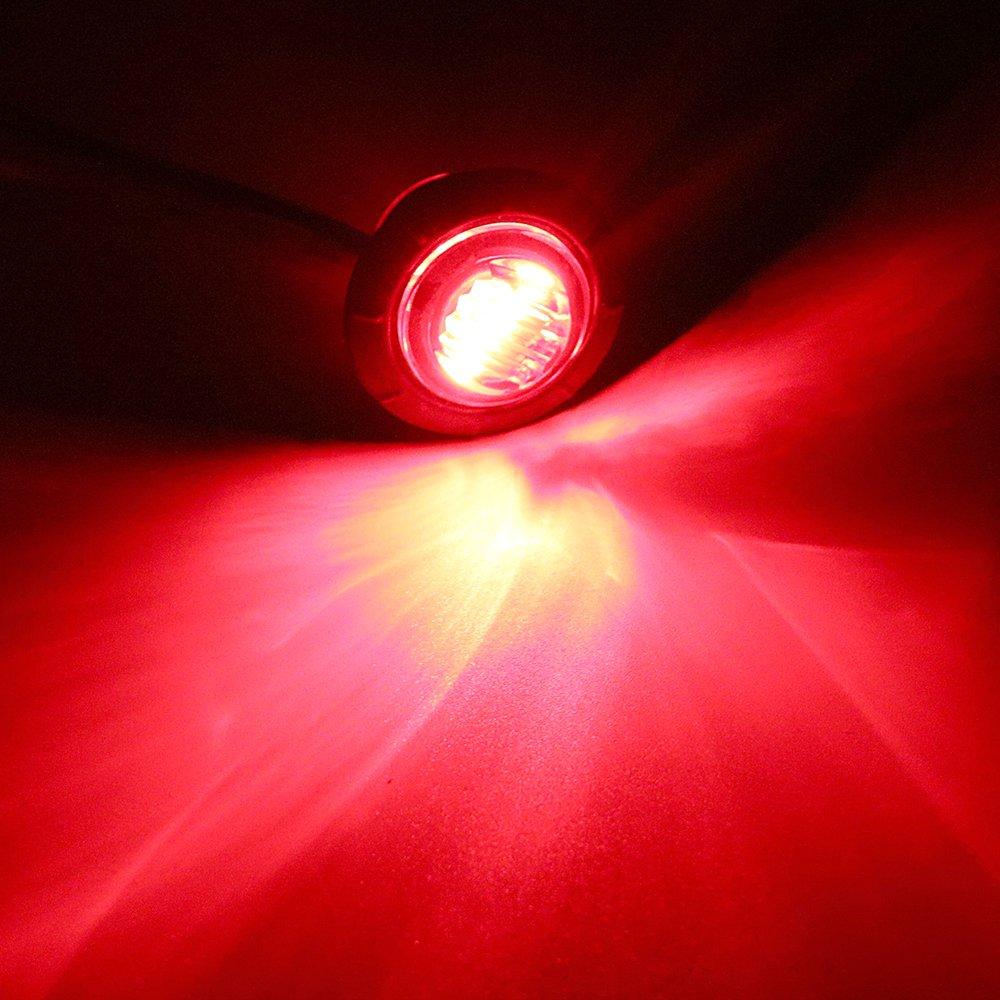 1/paire de voiture de tour de signal lumi/ères c/ôt/é lumi/ère Feu de Gabarit Camion Queue Feux davertissement Rouge