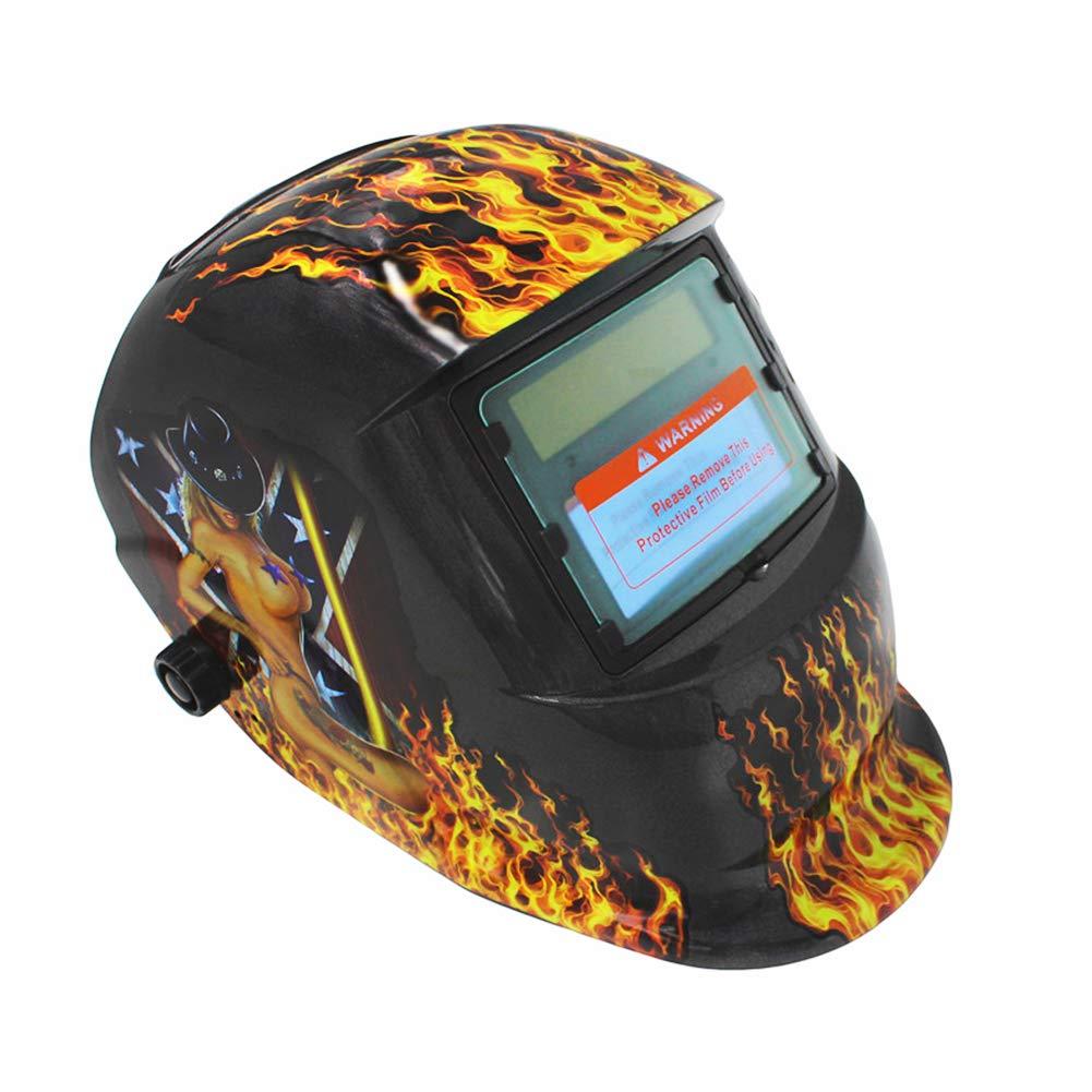 Parkomm Casque de Soudeur Automatique avec Zone de Couleur r/églable 5//9-13 Masque de soudage Solaire pour Toutes Les Applications de soudage