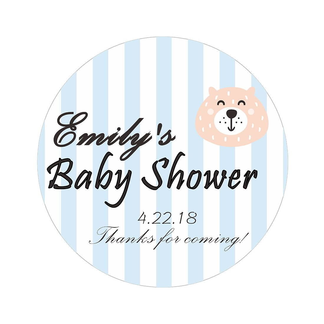 Amazon com mjartoria custom personalized babys shower round labels stickers 2 inch diameter pack of 500 office products