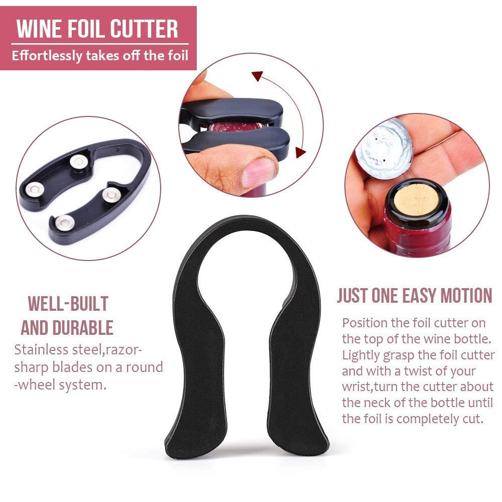 Wine Opener Corkscrew Set Premium 10-In-1 Wine Bottle Opener Kit Best Pop Bar Wine Opener Kit Wine Tools For Women and Men-Rose Gold Rabbit Lever Wine Opener by Seeutek (Image #8)