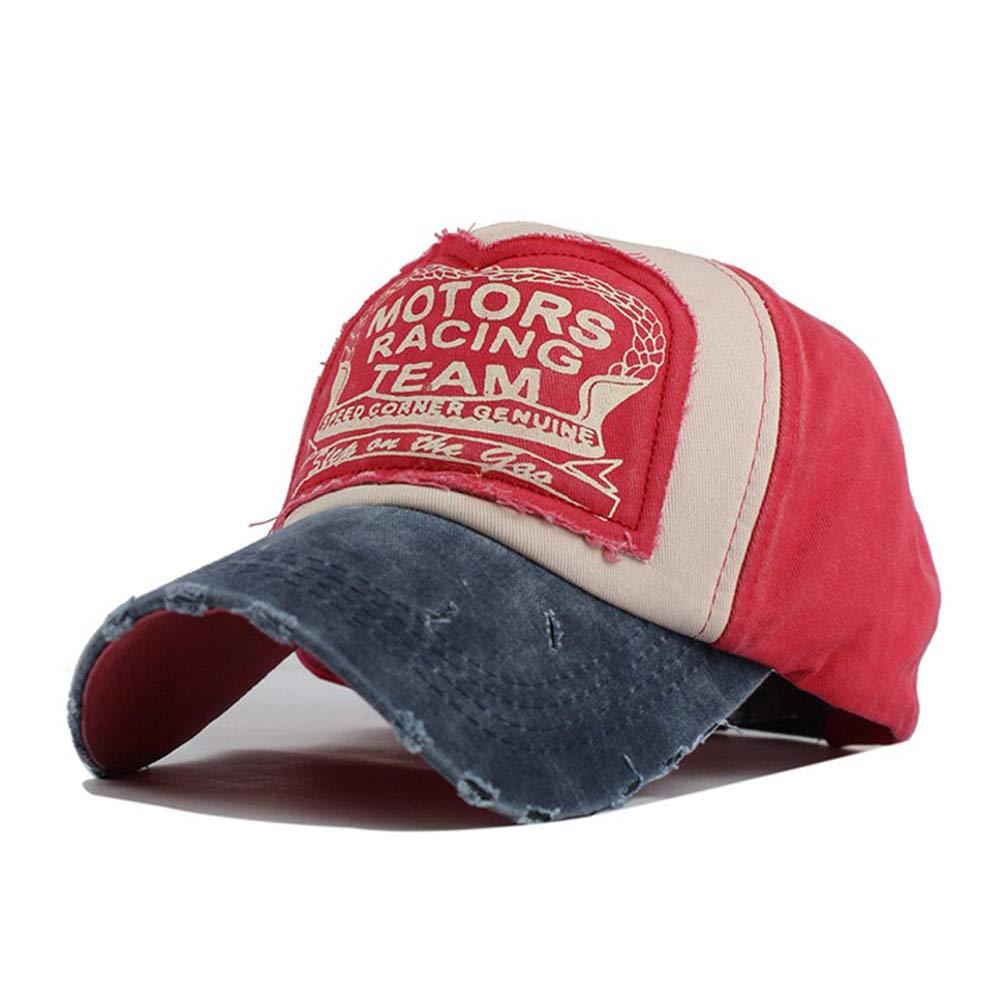 NWHEBET Berretto da Baseball Vintage Denim Stampato Motors Racing Sport Snapback Trucker Hat Hip Hop cap per Donne e Uomini