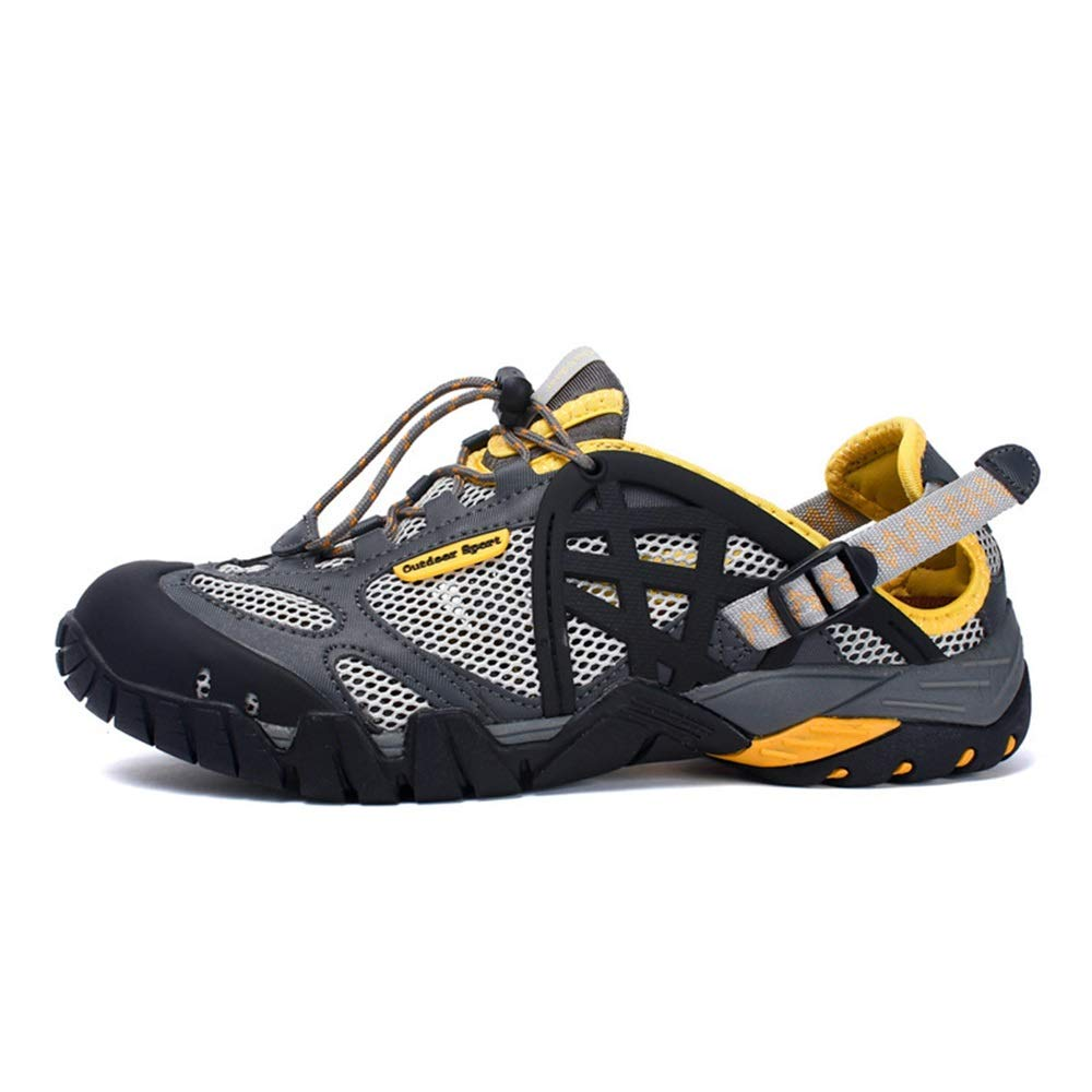 Ywqwdae Wasserdichte atmungsaktive Outdoor-Schuhe Outdoor-Schuhe Outdoor-Schuhe der Männer Bequeme Non Slip Water schuhe (Farbe   Grau, Größe   EU 39) 2bf4c9