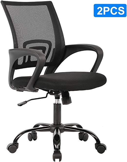 Amazon Com Home Office Chair Ergonomic Desk Chair Mesh Computer Chair Executive Adjustable Rolling Swivel Chair With Lumbar Support Arms For Women Adults 2 Pack Kitchen Dining