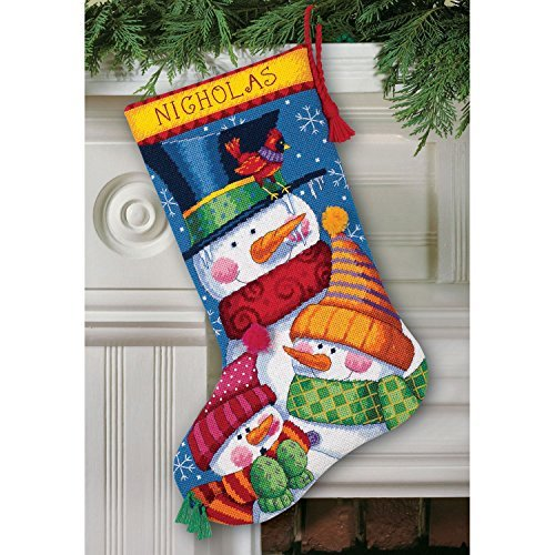 Freezin' Season Stocking Needlepoint Kit-16 Long Stitched In Wool & Thread