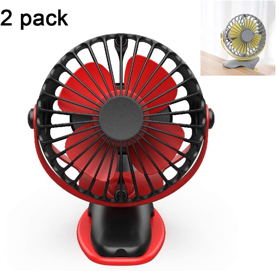 DNNAL Tabventilator, stille ventilator, 6400 mAh USB oplader