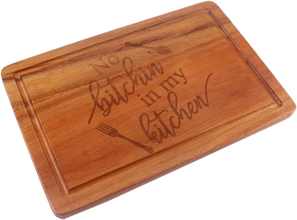 HomeLove Inc. Funny Engraved Wood Cutting Board, Gifts for Cook Lover, chef, Friend, Sister, Wife, Rustic Farmhouse Kitchen Decor, Birthday, Housewarming, Christmas Gift