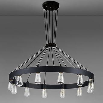 Hanging Lamp Kunst Groß Ring Leuchter Design Licht Decke Hängeleuchte  Industrielle Deko Lampe Mit E27