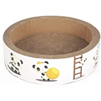 Durable Cardboard Cat Scratcher Board with Catnip for Grinding Claws Rest Scratching, Sleeping Resting
