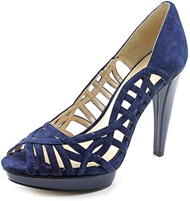 Blue Suede Platforms Heels Shoes | Pumps