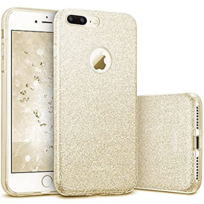 "ESR iPhone 7 Plus Case,Glitter Sparkle Bling Case [Three Layer] for Girls Women [Shock-Absorption] for 5.5"" iPhone 7 Plus(2016 Release)"
