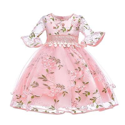 POLP Niña Vestido ◕‿◕ Vestido Mangas Corto con Estampado para//Niña Vestido,Multifuncional Corto Falda,Verano Otoño Mameluco Falda,Casual ModaMangas Corto Camiseta,Falda Princesa(1PCS)