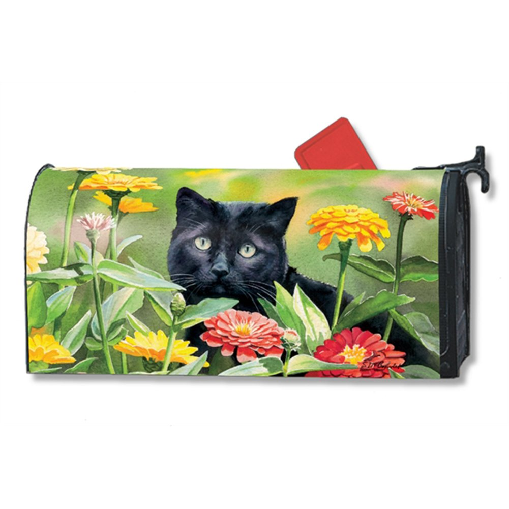 Sweet Fragrance Kitty LARGE MailWraps Magnetic Mailbox Cover #21506