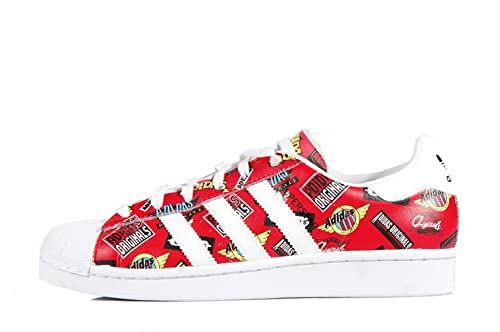pretty cool online store pick up adidas Superstar by NIGO Allover Print Scarlet White ...