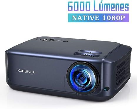 Proyector Full HD, 6000 Lúmenes Soporta 1080P LCD Video Proyector ...