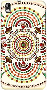 DailyObjects Cowboy Mustache Mexico Mandala Case For HTC Desire 816