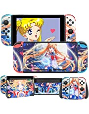 DLseego Switch Skin Sticker Pretty Pattern Full Wrap Skin Protective Film Sticker Compatible with Switch - Multicolor Sailor Moon