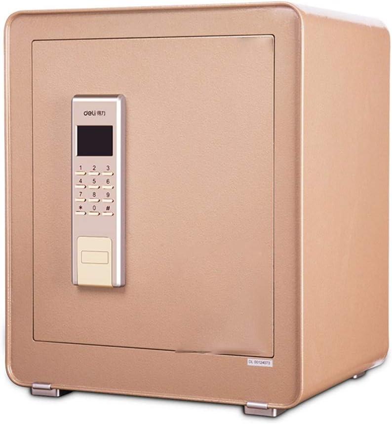 家庭用 金庫 キーボードとホームとオフィスキャビネット金庫のための高デジタル電子金庫スチール金庫 電子金庫 (色 : Gold, Size : 38x32x45cm)