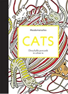 Cats Postcards Colouring For Mindfulness
