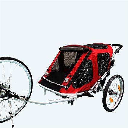 EVERAIE Remolque Bicicleta de niño Asiento Plegable Doble Remolque detrás de remolques de Bicicletas, Cuenta con Dosel 2-en-1 y de 16 Pulgadas Ruedas for niños y los niños: Amazon.es: Hogar