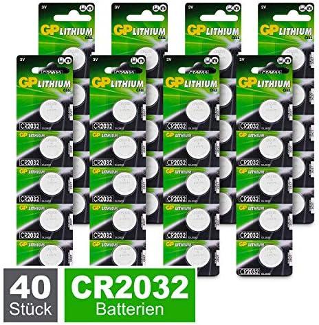 GP CR2032 - Pilas de botón de Litio (3 V, CR 2032 / DL2032 ...