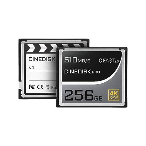 cinediskpro® Tarjeta de memoria CFast 2.0 4 K Raw 256 GB ...