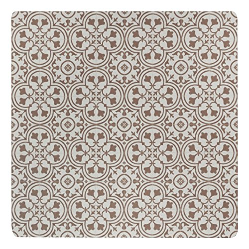 Vinyl Floor Mat, Durable, Soft and Easy to Clean, Ideal for Highchair Floor Mat, Mudroom Mat or Play Mat. Freestyle, Brick Deco Pattern (4 ft x 4 ft)