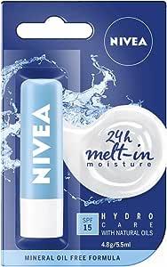 NIVEA Lip Balm, Hydro Care, 4.8g