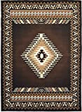 Rugs 4 Less Collection Southwest Native American Indian Area Rug Design R4L 143 Chocolate / Brown (5ft 2in x 7ft 2in)