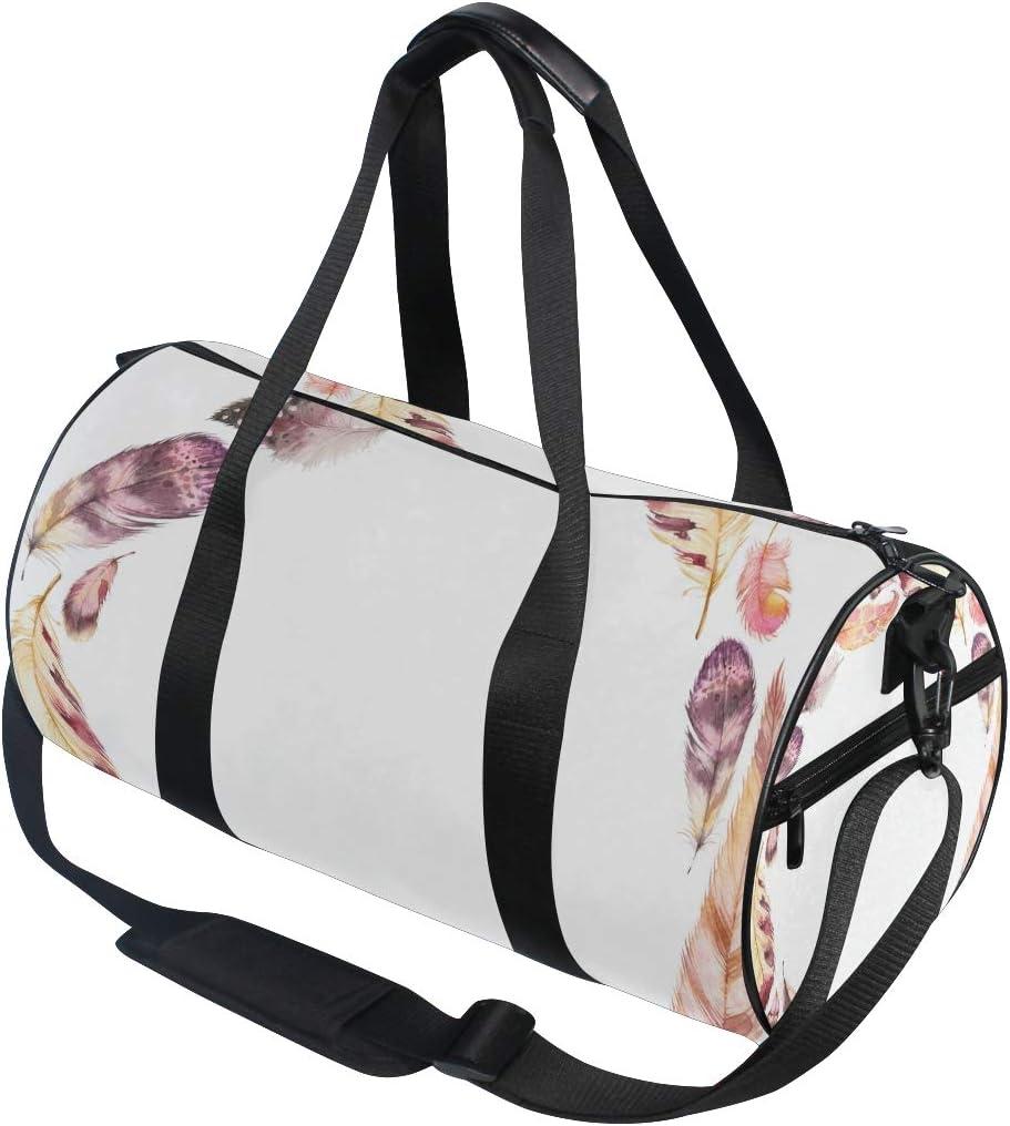 MALPLENA Birds Feathers Drum gym duffel bag women Travel Bag