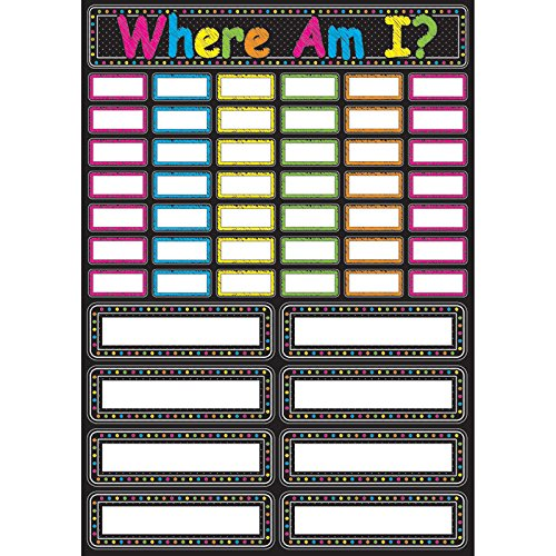 Ashley Productions Scribble Chalk Where Am I Magnetic Mini Bulletin Board Set, 12