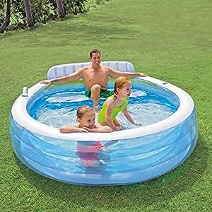 Intex 57190ep b01e0w4l58 family lounge pool - Intex swim center family lounge pool blue ...