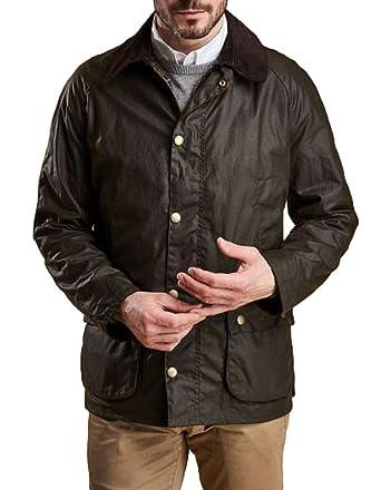Amazon Com Barbour Men Barbour Ashby Wax Jacket Olive Us 38