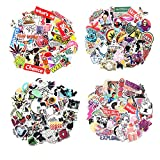 Cool 100-400Pcs Random Stickers Pack Vinyl Skateboard Guitar Travel Stickers Car Bicycle Luggage Decal Graffiti Patches Skateboard Laptop Stickers (400pcs)