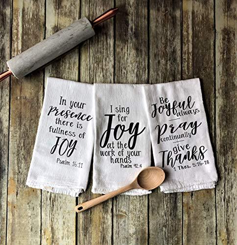 Joy Inspired Set of 3 Tea Towels